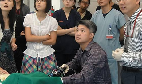 Dr Matthew Lau teaching hysteroscopy