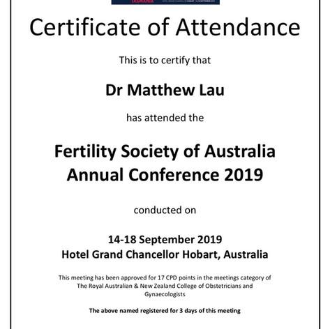 Certificate of Attendance FSA 2019 - FUL