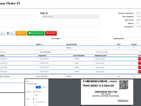 TRXio: New Vendor Purchase Order Feature