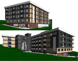Southwest Water Apartments Elevations Concept 1
