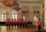 Э.Гау Караул лейб-гвардии Казачьего полка в Зимнем дворце. 1866г.