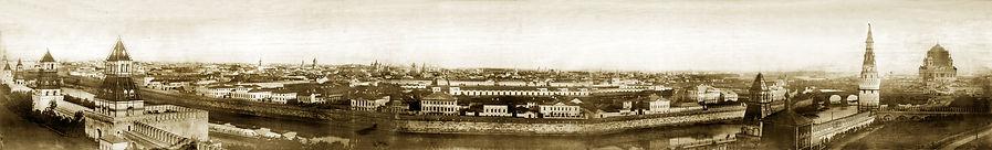 фотопанорама Москвы была сделана в 1856 году по случаю коронации Александра II.