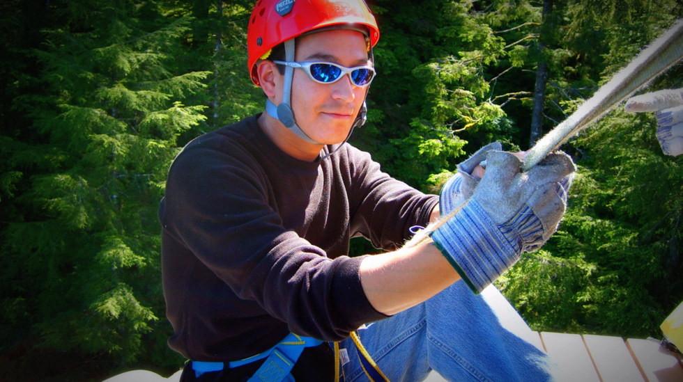 Pete - Alaska Canopy Adventures Zipline - 140 feet up in the trees!