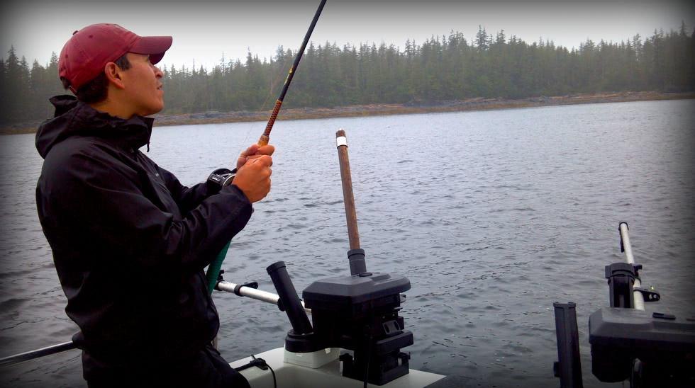 Pete - Best Fishing In Alaska, LLC - Ketchikan Fishing - Reelin' in the Big One!