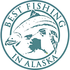 Best Fishing In Alaska Company Logo Round