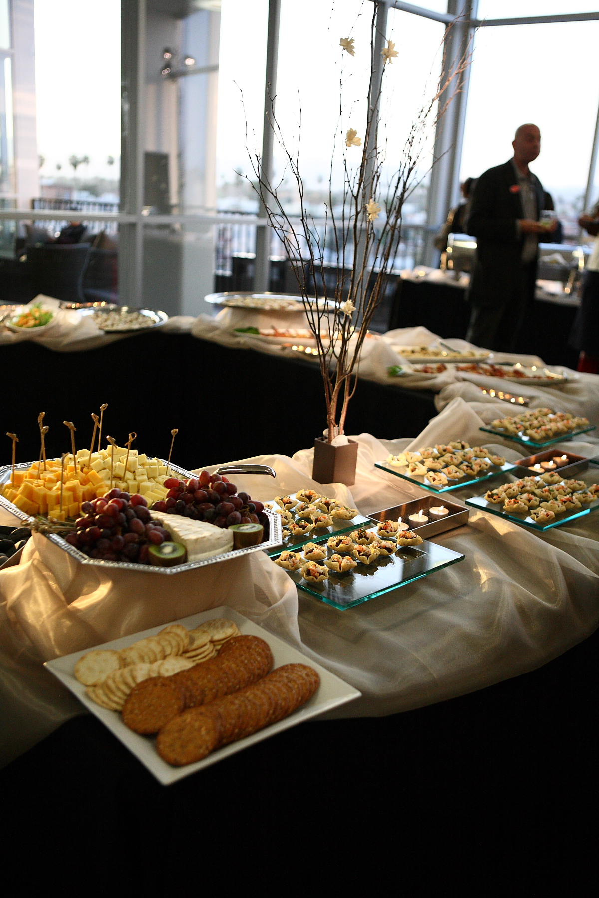 Tablescape of Buffet Items