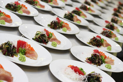 Sashimi and Seaweed Salad