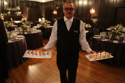 Waiter Ready to Serve Hors D'oeuvres