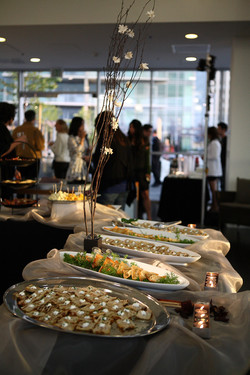 Array of Buffet Items with Branch Decor