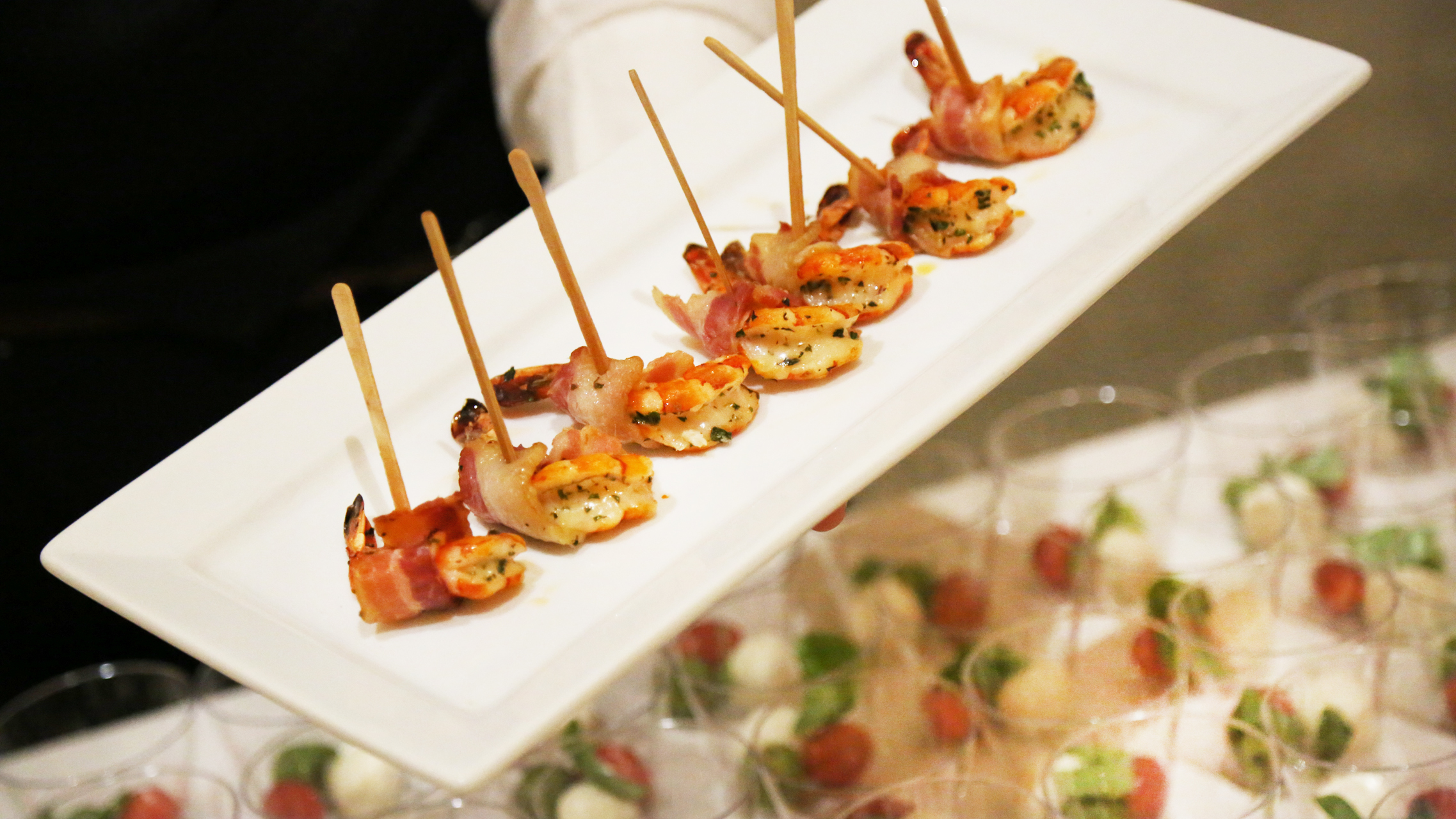 Bacon-Wrapped Tiger Prawn