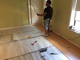 Recording Room Floor Installation