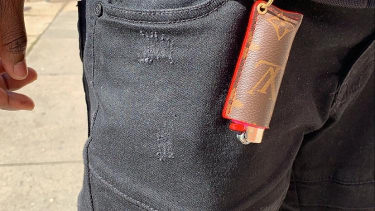 Custom LV lighter Holder