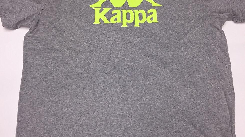 Grey and Green Kappa Tee