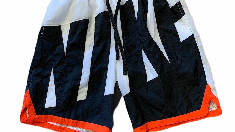 black orange bold Nike shorts