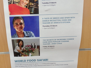 Guest Culinary Teacher at the Endeavour Hills Library 'World Food Safari' week