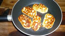 Golden Delicious Fried Halloumi