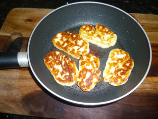 Golden Delicious Fried Halloumi