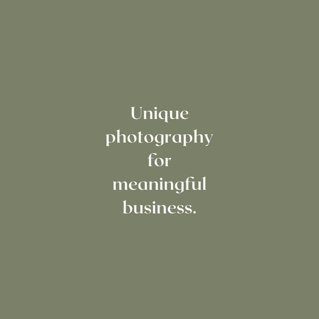 Sustainable photographer