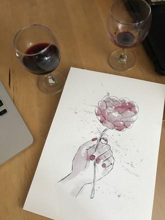 Wine painting