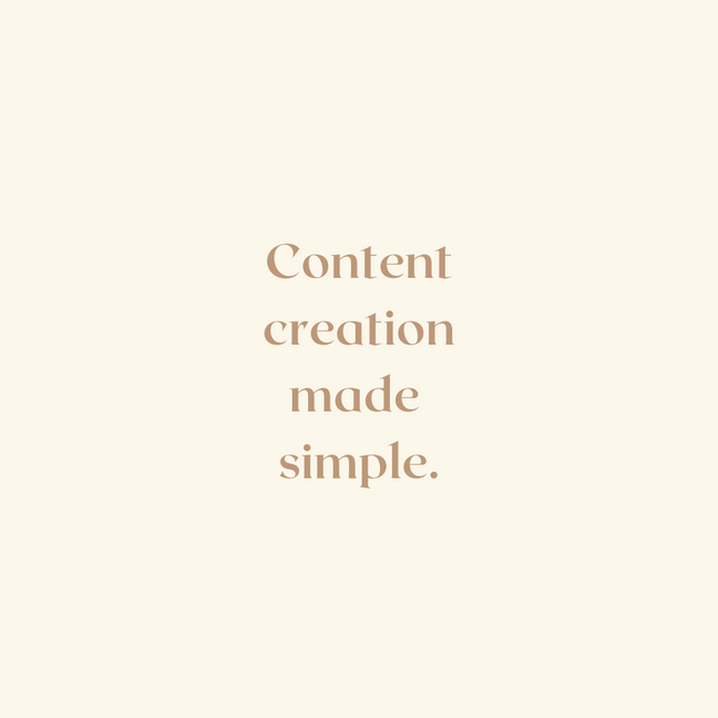Content Creation made simple