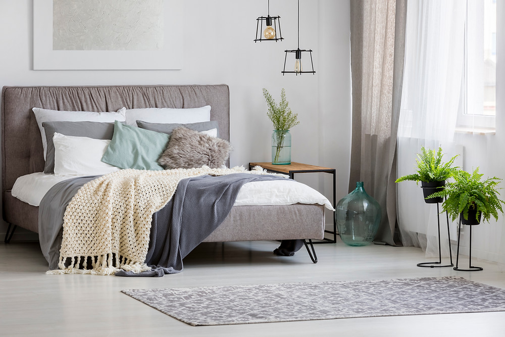 make the bedroom look more luxurious for free