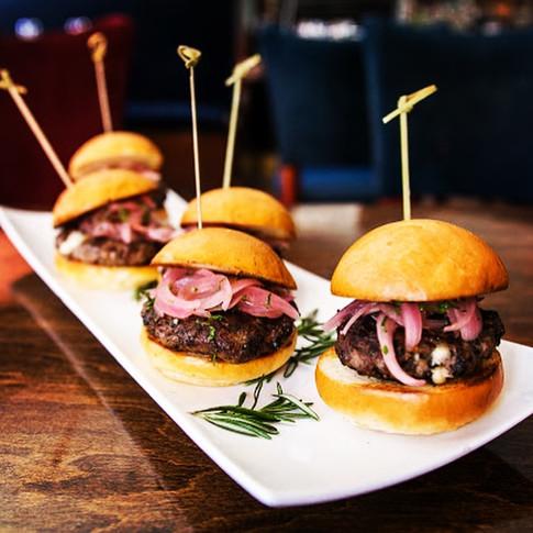 Lamb Sliders/ Feta/ Mint/ Pickled Red Onion/ Brioche Bun