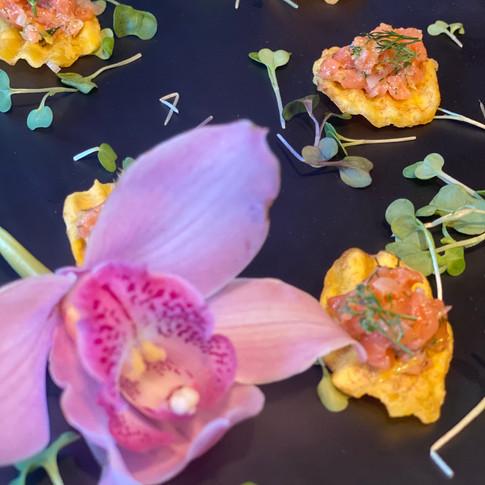 Salmon Crudo | Plantain Crisp