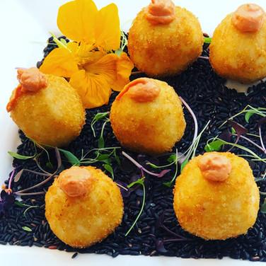 Fried Arancini/ Fontina/ Sundried Tomato Aioli