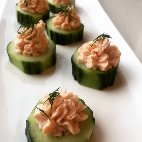 Smoked Salmon Mousse | Cucumber Dill