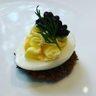 Deviled Quail Egg | Osetra Caviar