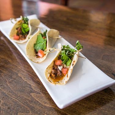 Braised Short Rib Tacos/ Celery Root Aioli/ Herb Salad