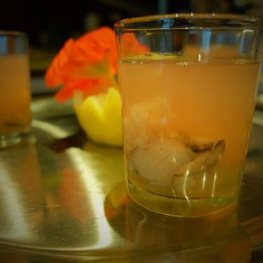 Oyster Shooter/ Tomato Concasse/ Horseradish/ Lemon Vodka Granita