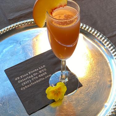 Bellini Signature Cocktail | Champagne, Brandy, Peach