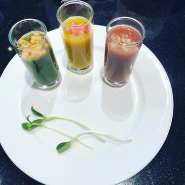 Tri Color Gazpacho