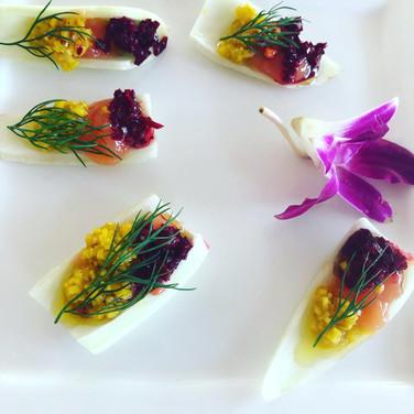 Raw Beet Salad Red Wine Vinaigrette | Fennel, Orange Marmalde
