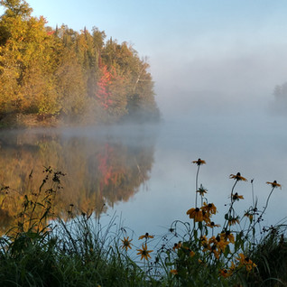 Sunrise on Rock Lake, by Mike and Rosemary Martin