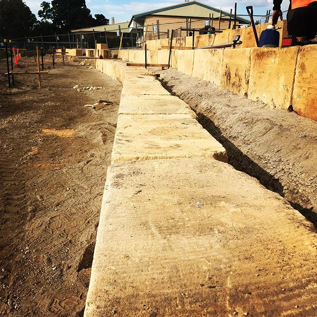 Sandstone Block Wall Build coming along