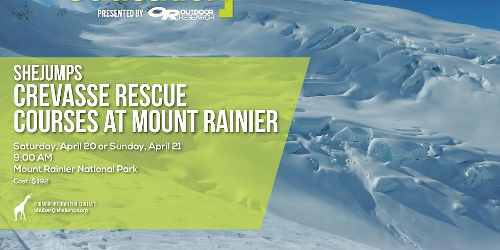 SheJumps Crevasse Rescue Courses at Mount Rainier