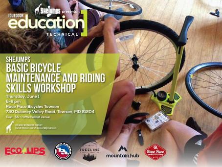 Basic Bicycle Maintenance and Riding Skills Workshop