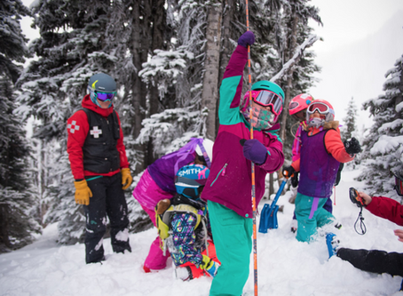 Girls Learn Wildness Safety at Bogus Basin