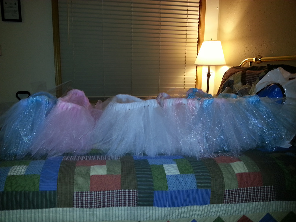 The first batch of tutus!