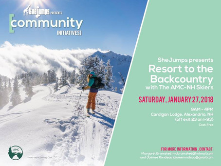 SheJumps Resort To the Backcountry with AMC-NH Skiers March 17th