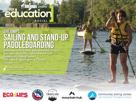 SheJumps Sailing and Stand-Up Paddleboarding – Burlington, VT