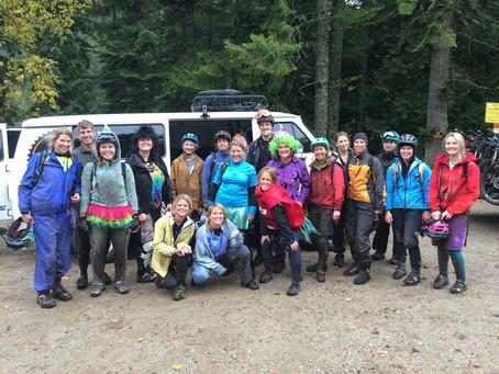 SheJumps Mountain Bike Shuttle Ride at Schweitzer Mt. – Recap