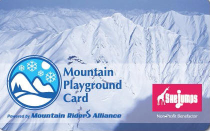 Mountain Playground Card announces SheJumps as non-profit benefactor