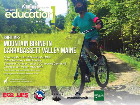 SheJumps Mountain Biking in Carrabassett Valley October 14-15