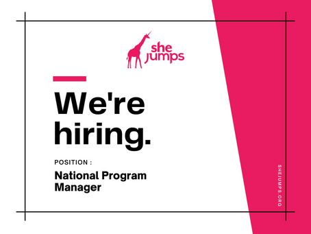 SheJumps is Hiring: National Program Manager