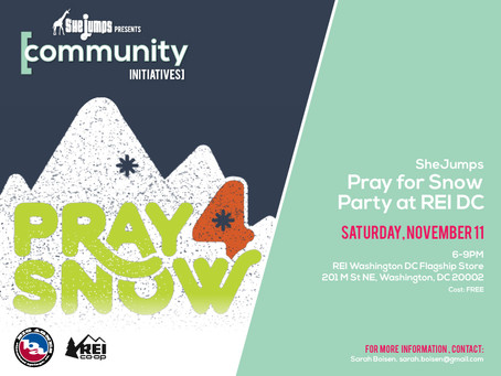 Pray For Snow Party at REI DC