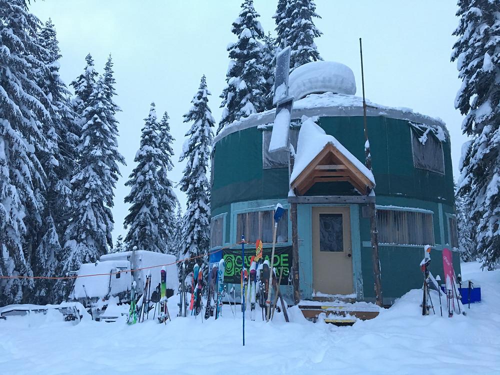 Katie Lane yurt outside
