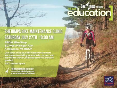 Outdoor Education: Kalamazoo Bike Clinic July 27th